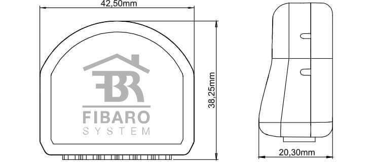 fibaro-fgrgb-101-zwave-micromodule-eclairage-basse-tension-changement-couleur-dimensions