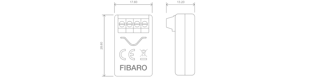 Fibaro implant dimensions